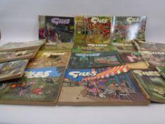 GILES CARTOON BOOKS (18) - 1970s/1980s