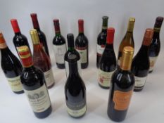 TABLE WINES, 15 BOTTLES - mainly reds