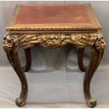CHINESE DEEP CARVED SQUARE TOP TABLE, early to mid-20th Century, the 75cms square top with carved