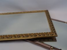 GILT FRAMED WALL MIRRORS (2) - 74 x 52cms the largest