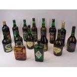 BOTTLED ALCOHOL & DRINKS - 15 various bottles including Croft Particular Sherry, Hampstead London