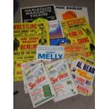 VINTAGE THEATRE/SHOWTIME COLLECTION OF SHOW CARDS, POSTERS & ASSOCIATED EPHEMERA - excellent
