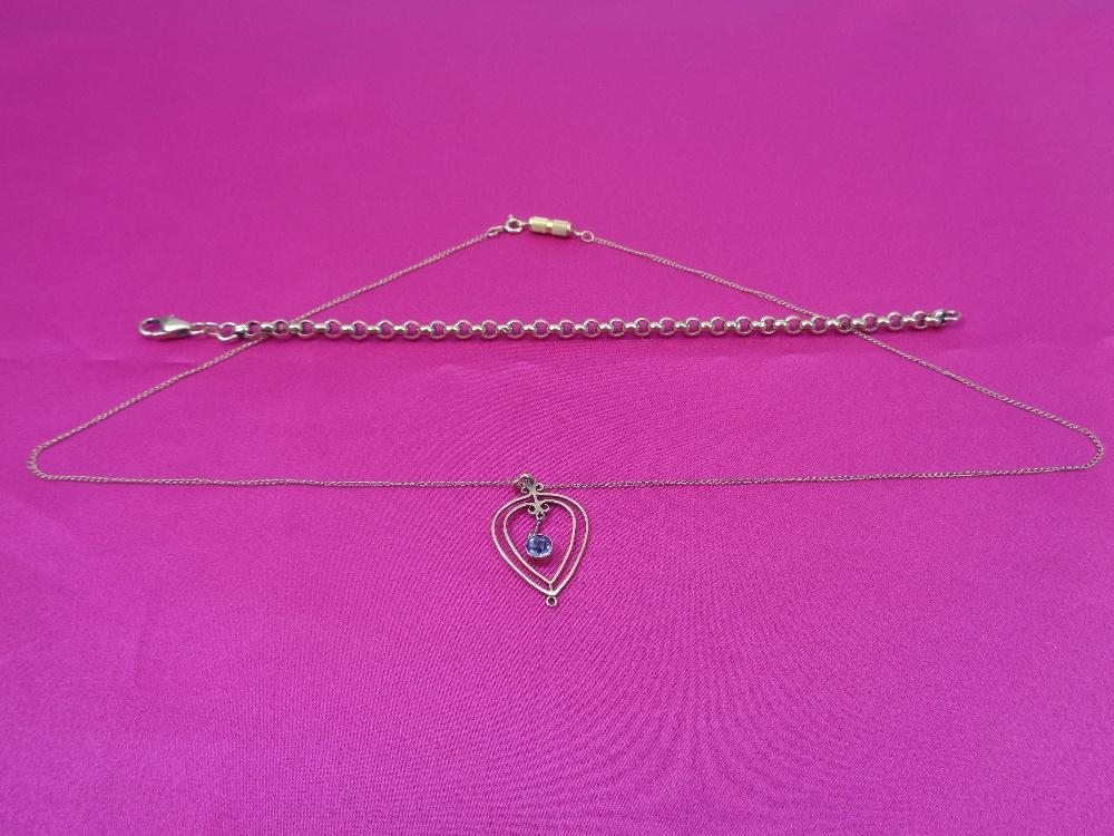 VINTAGE 9CT GOLD JEWELLERY, 2 ITEMS - an Italian belcher link type bracelet, 20cms L and a fine link