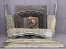 CAST IRON FIRE INSERT - decorative slate surround (for assembly), 107cms H, 164cms W, 26cms D