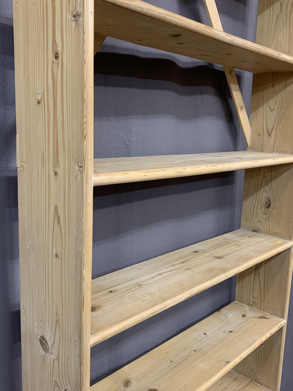 PINE BOOKCASES (2) -195cms H, 92cms W, 20cms D and 127cms H, 131cms W, 26cms D - Image 2 of 3