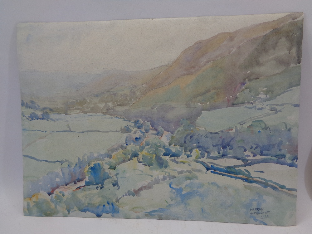 MURRAY MCNEEL CAIRD URQUHART (1880 - 1972) two unframed watercolours - Gwynedd mountains and - Image 4 of 5