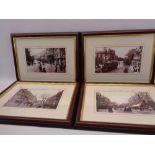COLWYN BAY - a set of four historical framed photographs, 14.5 x 24cms