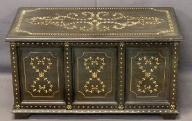 REPRODUCTION EASTERN INLAID STYLE BLANKET CHEST - interior lift-out slider, 46cms H, 85.5cms W, 44.