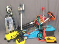 GARDEN & HOUSEHOLD ELECTRICAL ITEMS - Karcher jet washer, Mountfield blower, Gardena lawnmower,