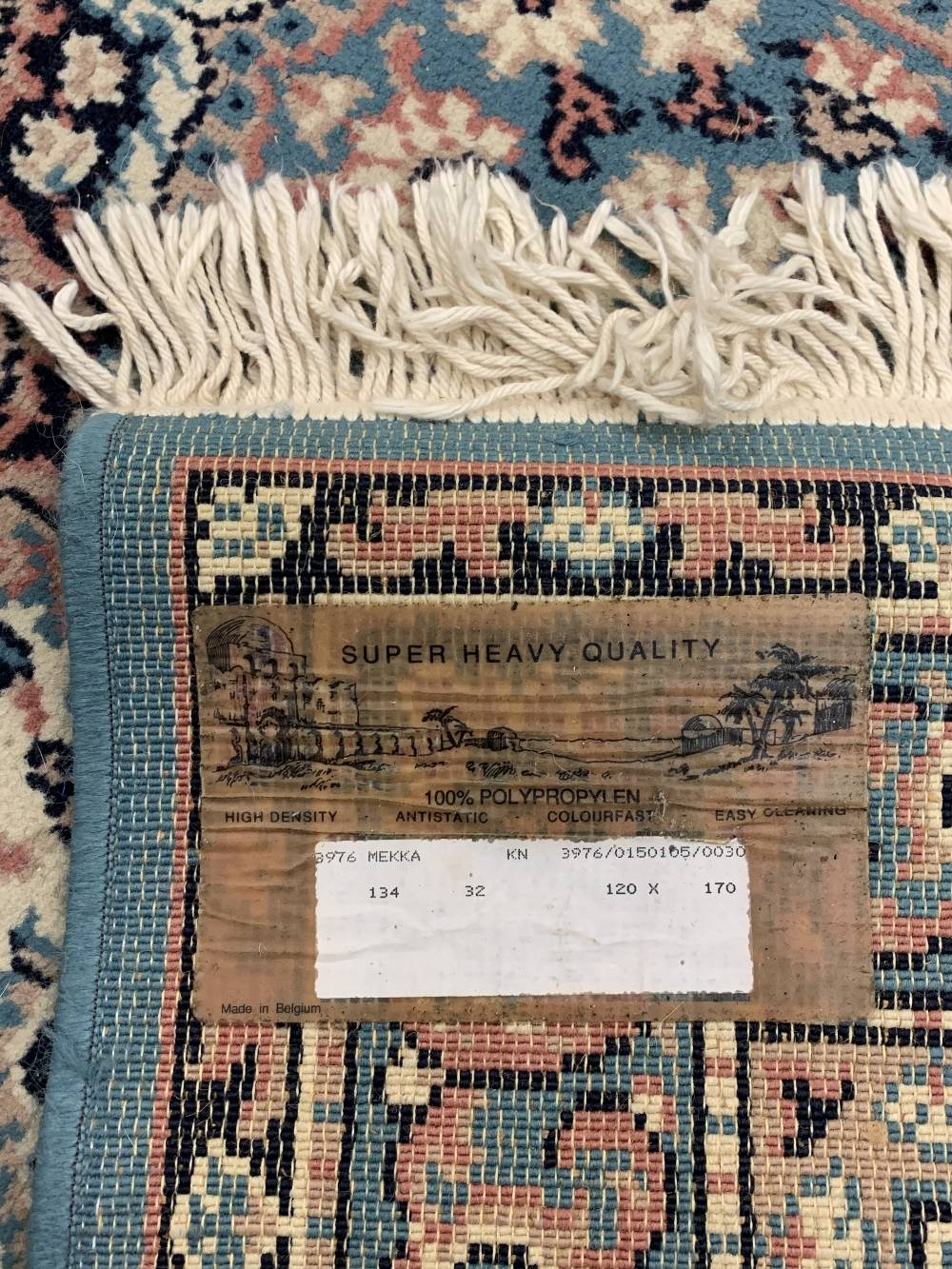 INDIAN 100% WOOL & OTHER BLUE GROUND CARPETS (2) - the Indian example with central repeating block - Image 3 of 5