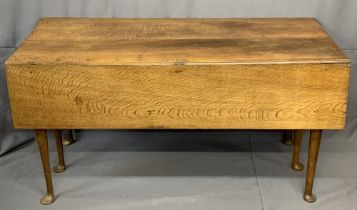 ANTIQUE OAK DINING TABLE 6 LEG DROP LEAF with missing sections (for restoration), 71cms H, 141cms W,