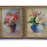 J REEVES oils on board (2) - Still Life, signed and dated 1928, 14 x 24cms