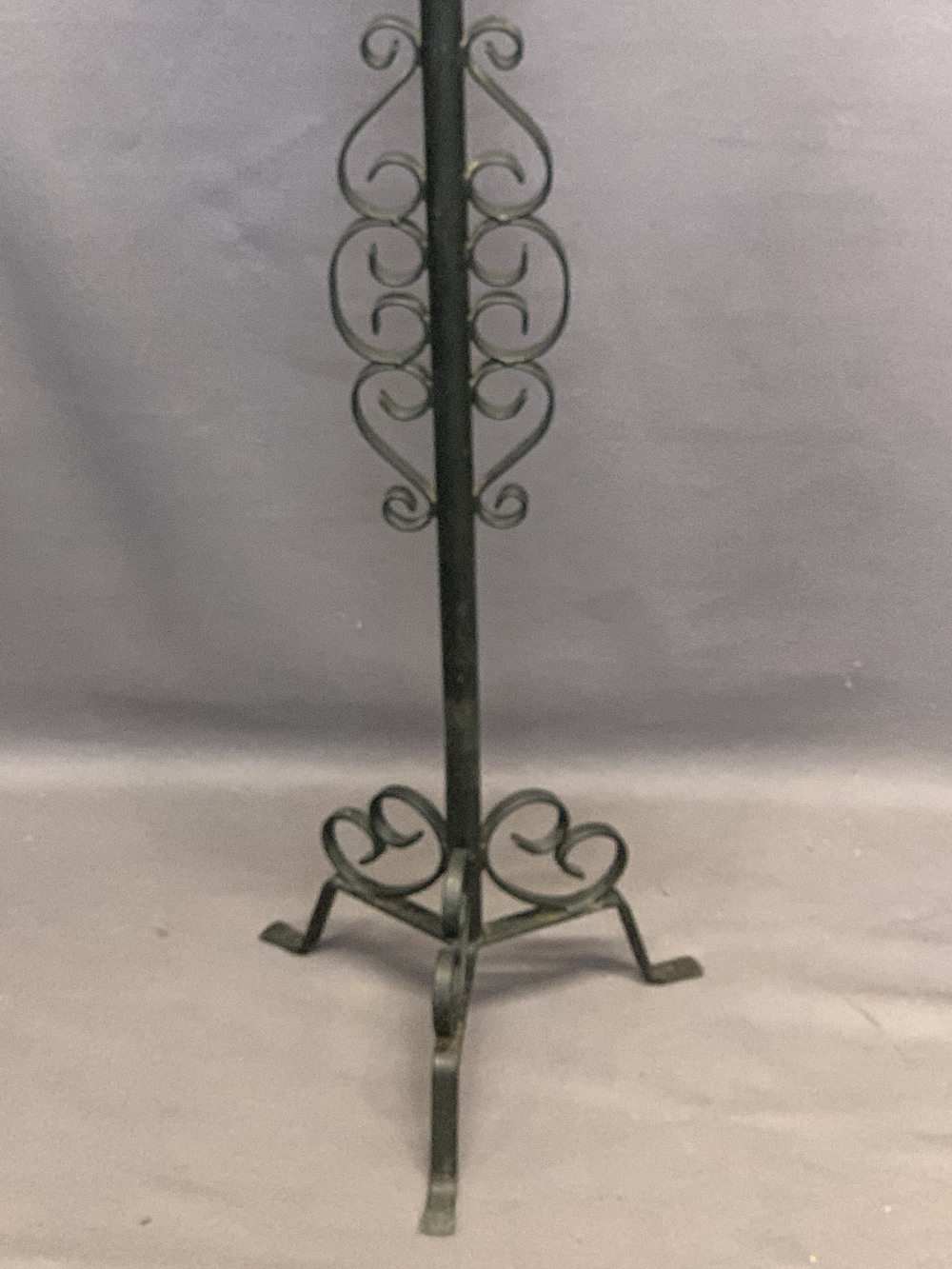 WROUGHT IRON LAMP/CANDLE STANDS (3) - 148, 124 and 74cm heights - Image 5 of 5