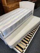 DIVAN BED - 'two in one' white painted with accompanying mattresses