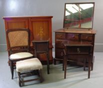 STAG MINSTREL DRESSING TABLE with two long and three short drawers, 72cms H, 83cms W, 46cms D, a