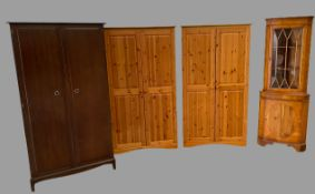 MODERN BEDROOM FURNITURE - a pair of pine wardrobes, Stag Minstrel two door wardrobe and a
