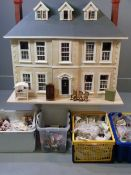 DOLL'S HOUSE - large quality example for collectors, fabulous detailed interior and a large quantity