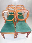 ANTIQUE CHAIRS - set of six balloon backs