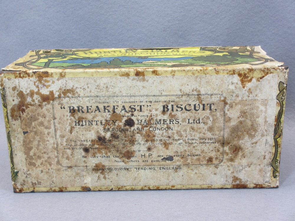 EP & OTHER CUTLERY - in a rare paper covered Huntley & Palmer's Tea Rusks tin, Art Nouveau style - Image 7 of 7