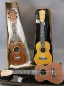 *MUSIC SHOP STOCK - Stagg & Freshman ukuleles (3) including a UC/30 with canvas case, boxed, a UC/30