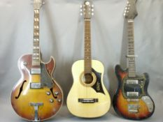 VINTAGE & LATER GUITARS (3) - in various conditions, the later example with vinyl carrycase