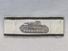 WW2 GERMAN TANK DESTRUCTION BADGE IN SILVER - awarded for single handed destruction of an enemy tank