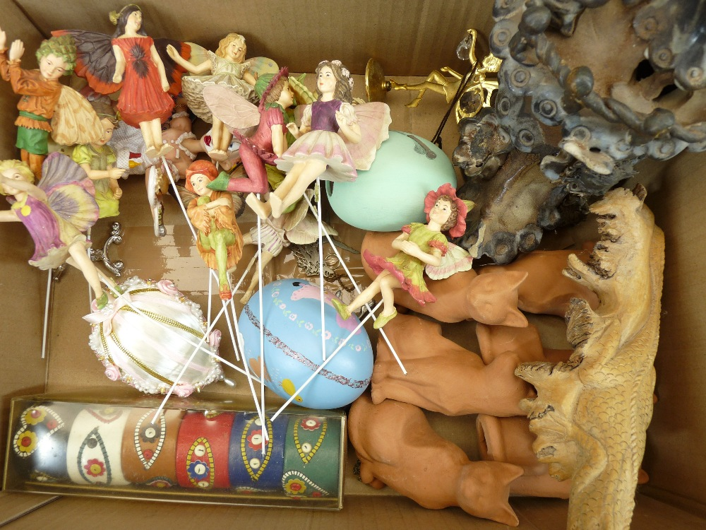 FANTASY DRAGON & FAIRY FIGURINES, decorative animals and birds, a mixed collection (in 3 boxes) - Image 3 of 6
