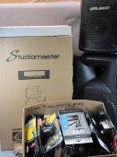 *MUSIC SHOP STOCK - new Studio Master Drive 12 passive speakers (2), CXXS 16 Studio Master channel