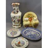 AYNSLEY ORCHARD GOLD, MASONS & OTHER DECORATIVE CHINA to include a 43.5cms H Masons Mandalay vase,