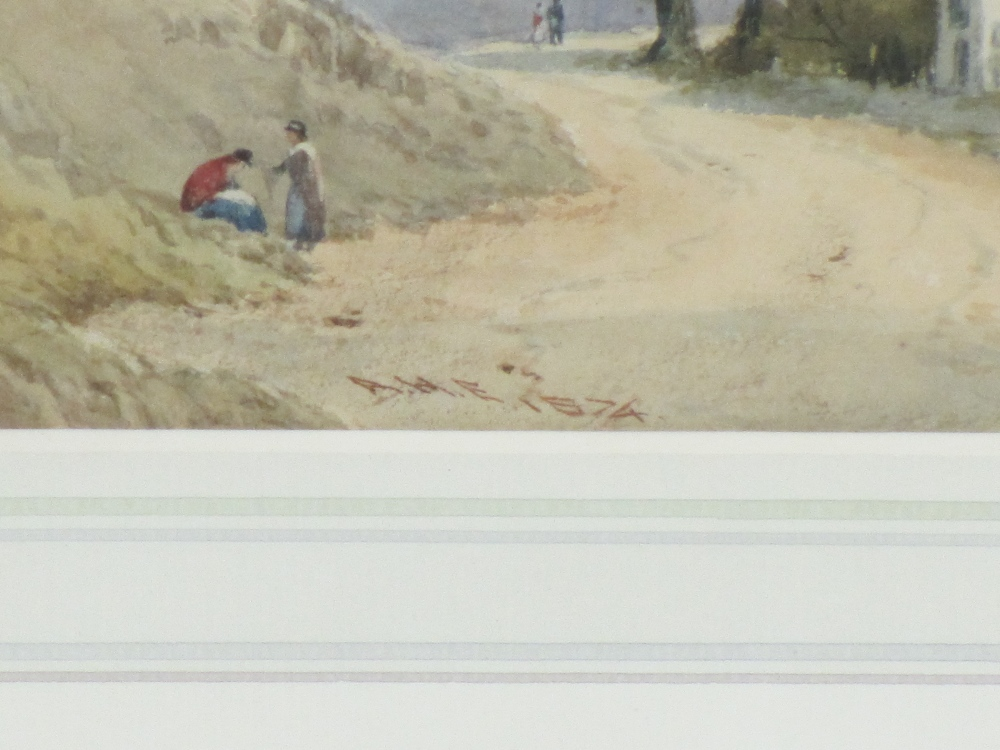 AFTER LUCIEN SIMON watercolour - entitled 'Le Campement', 13 x 19cms and a mid-19th Century - Image 3 of 4