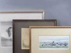 PHILLIP SNOW framed prints (3) - Artist's Proof mono titled 'Woodcock - Dusk', signed in pencil,