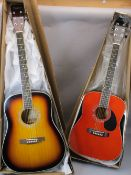 *MUSIC SHOP STOCK - acoustic guitars (2) including a Freshman Chicago Model No CH1JNRRD, boxed and a