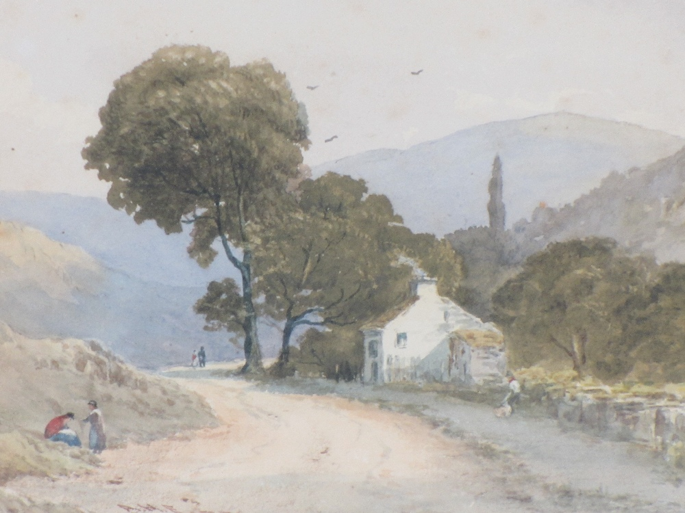 AFTER LUCIEN SIMON watercolour - entitled 'Le Campement', 13 x 19cms and a mid-19th Century - Image 2 of 4