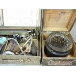 WORLD WAR 2 GIMBAL COMPASS US ARMY TYPE D/12 in original carry case dated 13th December 1940 and a