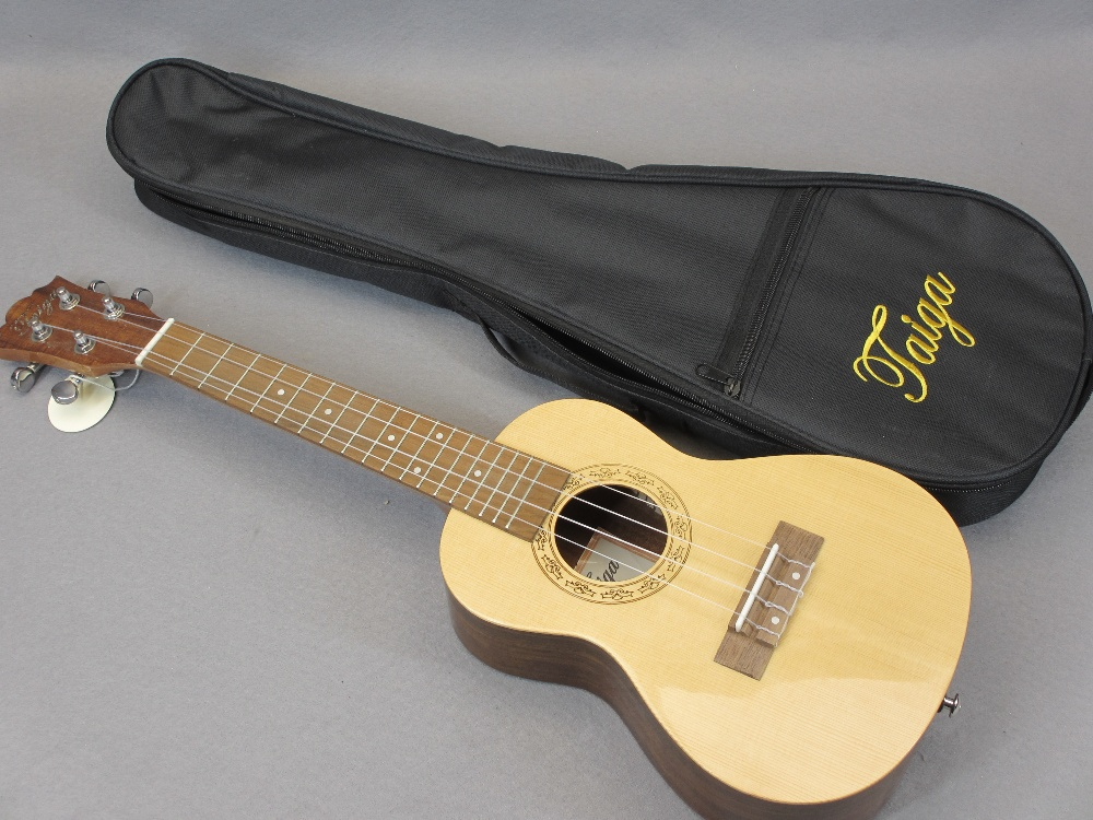 *MUSIC SHOP STOCK - Taiga & Halona ukuleles (3) including a Taiga Coral Model T-32 with canvas case, - Image 2 of 7