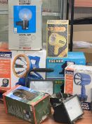 MOTION DETECTOR, HANDHELD & OTHER LAMPS & LIGHTING - mainly boxed, E/T