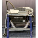 ELEKTRA BECKUM TKHS315M BENCH SAW - lift front handles and wheeled end, 103cms overall H, 96cms W,