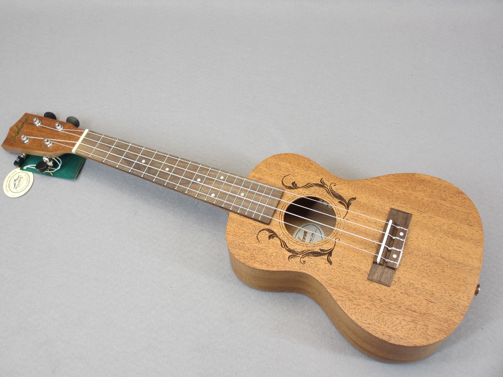 *MUSIC SHOP STOCK - Taiga & Halona ukuleles (3) including a Taiga Coral Model T-32 with canvas case, - Image 4 of 7