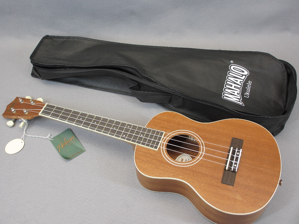 *MUSIC SHOP STOCK - Taiga & Halona ukuleles (3) including a Taiga Coral Model T-32 with canvas case, - Image 6 of 7