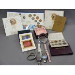 COIN COLLECTABLES, SWISS & OTHER LADY'S & GENT'S WRIST WATCHES, Royal Mail Millennium collection