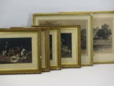 (JEAN MARIE) DELATTRE set of four aquatint engravings - titled 'Necessity', 'Frugality', 'Choice'