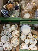 MIXED CHINA & GLASSWARE - Royal Ascot part tea sets, Allerton's Toby jug, Japanese Cloisonne display