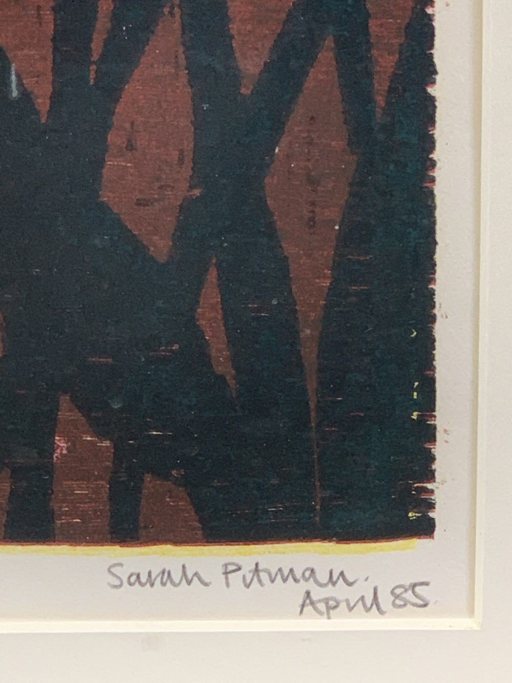 SARA PITMAN limited edition print - titled 'Asian Treasure' 2/6 signed and dated April '85, 55.5 x - Image 3 of 3