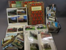 POSTCARD COLLECTION - approximately 800 cards including Edwardian children, Shipping, Country