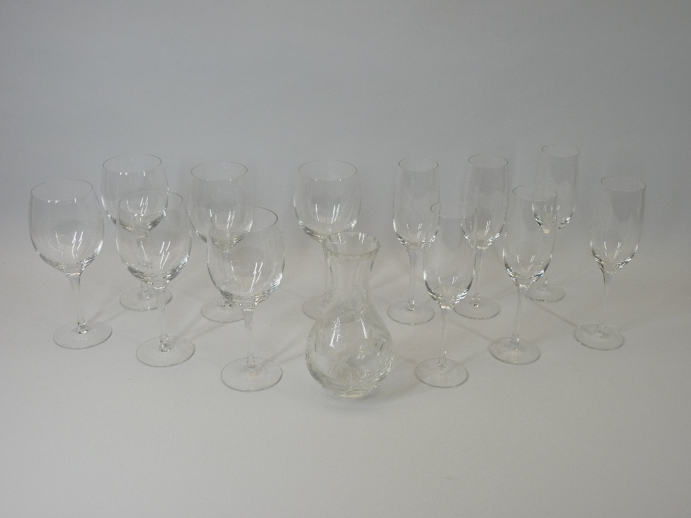 DARTINGTON CRYSTAL DRINKING GLASSES - one dozen mixed in original boxes along with a boxed Royal