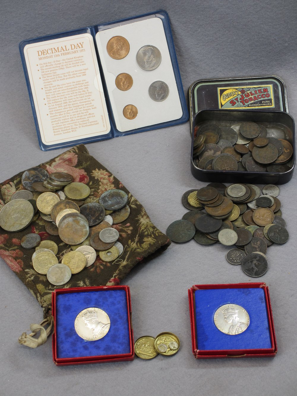 VINTAGE & LATER BRITISH/CONTINENTAL COINS & COMMEMORATIVES - two boxed 1937 George VI Coronation