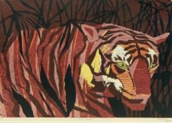 SARA PITMAN limited edition print - titled 'Asian Treasure' 2/6 signed and dated April '85, 55.5 x