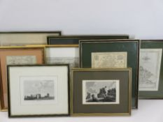 FRAMED ANTIQUE MAPS & PRINTS to include ARCHIBALD FULLARTON 'Ports & Harbours of the South Coast