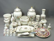 COALPORT & OTHER CABINET CHINAWARE - mainly Ming Rose, a good mixed collection including 26cms H