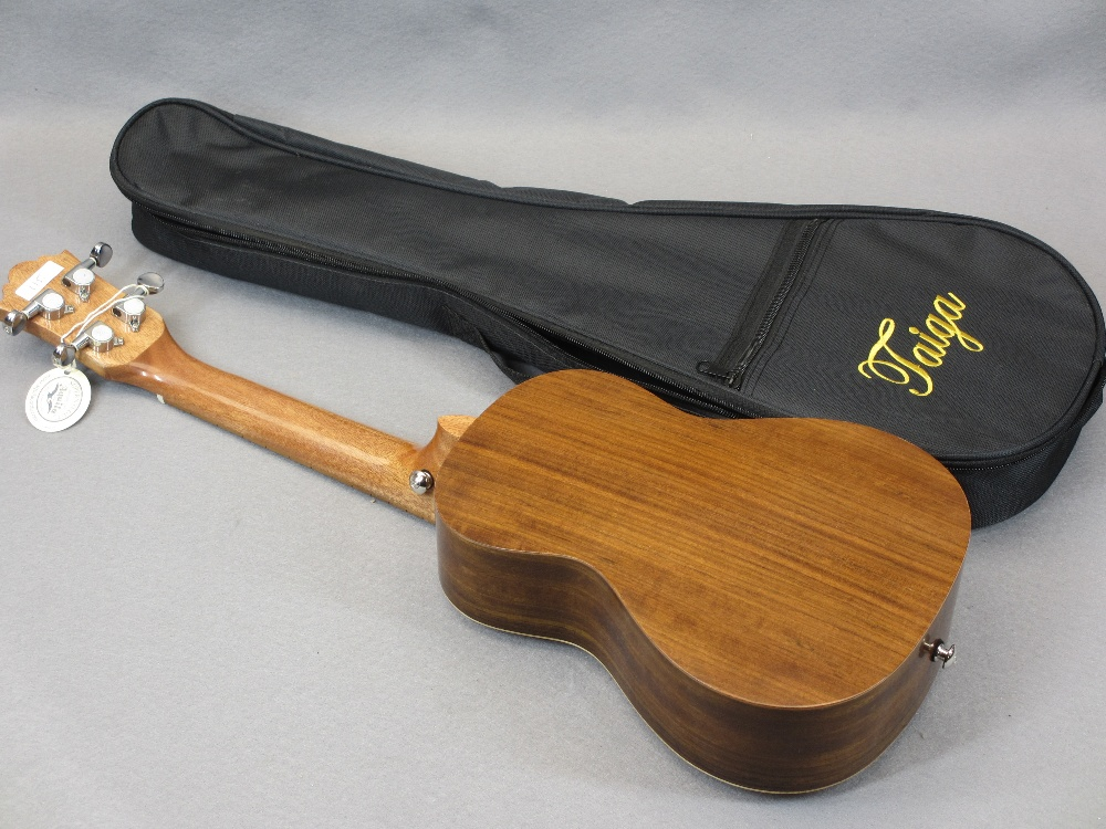 *MUSIC SHOP STOCK - Taiga & Halona ukuleles (3) including a Taiga Coral Model T-32 with canvas case, - Image 3 of 7